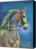 Horse Canvas Prints - Paranormal Canvas Print by Jeanne Newton Schoborg