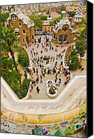 Parc Guell Canvas Prints - Parc Guell in Barcelona Canvas Print by Sven Brogren