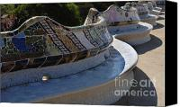 Parc Guell Canvas Prints - Parc Guell Spain Canvas Print by Bob Christopher