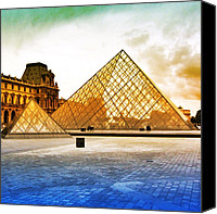 Bestoftheday Canvas Prints - Paris - Louvre Canvas Print by Luisa Azzolini