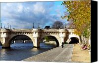 Photohogdesigns Canvas Prints - Paris Bridge 0523 Canvas Print by PhotohogDesigns