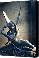 Angel Photographs Photo Canvas Prints - Paris Eros and Psyche - Louvre Museum Canvas Print by Kathy Fornal