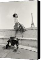 Women Photo Special Promotions - Paris Fashion Session Canvas Print by Philippe Taka