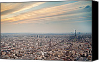 Ile De France Canvas Prints - Paris From Tour Montparnasse Canvas Print by Romain Villa Photographe