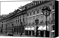 Shopping Canvas Prints - Paris In Black and White - Architecture Details Canvas Print by Kathy Fornal