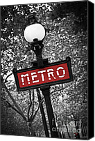 Architecture Photo Canvas Prints - Paris metro Canvas Print by Elena Elisseeva