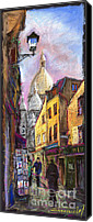 Old Pastels Canvas Prints - Paris Montmartre 2 Canvas Print by Yuriy  Shevchuk
