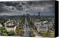 Grey Clouds Canvas Prints - Paris No. 2 Canvas Print by Ryan Wyckoff