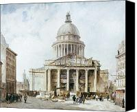 Streetscene Canvas Prints - Paris: Pantheon, 1835 Canvas Print by Granger