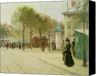 City Streets Canvas Prints - Paris Canvas Print by Paul Cornoyer