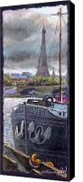 Pastel Landscape Canvas Prints - Paris Pont Alexandre III Canvas Print by Yuriy  Shevchuk