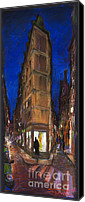 Old Pastels Canvas Prints - Paris Street 2 Canvas Print by Yuriy  Shevchuk