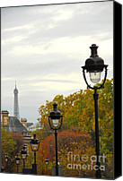 Architectural Detail Canvas Prints - Paris street Canvas Print by Elena Elisseeva