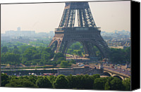 Heat Canvas Prints - Paris Tour Eiffel 301 Pollution, Pollution Canvas Print by Pascal POGGI