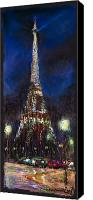 Pastel Landscape Canvas Prints - Paris Tour Eiffel Canvas Print by Yuriy  Shevchuk