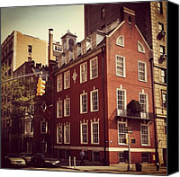 Street Canvas Prints - Park Avenue Architecture - New York City Canvas Print by Vivienne Gucwa