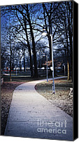 Lamppost Canvas Prints - Park path at dusk Canvas Print by Elena Elisseeva
