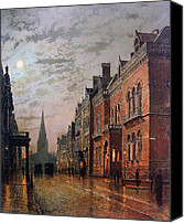 Grimshaw Canvas Prints - Park Row Leeds 1882 Canvas Print by Stefan Kuhn