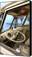 Clemente Digital Art Canvas Prints - Parked Above The Pier Canvas Print by Ron Regalado