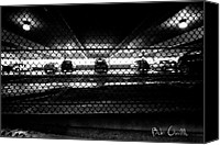 Wet Canvas Prints - Parking Garage Canvas Print by Bob Orsillo