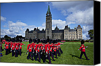 Ceremony Canvas Prints - Parliament building Ottawa Canada  Canvas Print by Garry Gay
