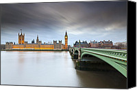 Clocktowers Canvas Prints - Parliament Canvas Print by Sebastian Wasek
