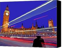 Drive Canvas Prints - Parliament Square with Silhouette Canvas Print by Chris Smith