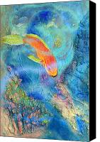 Fish Reliefs Canvas Prints - Parrotfish Canvas Print by Dayton Claudio