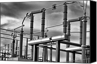 Black And White Canvas Prints - Part Of The Grid Canvas Print by Bob Orsillo