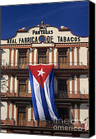 Cigars Canvas Prints - Partagas Cigar Factory Canvas Print by James Brunker