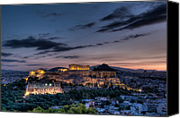 Daybreak Canvas Prints - Parthenon and Acropolis at dawn Canvas Print by Michael Avory