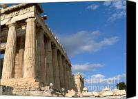 Acropolis Canvas Prints - Parthenon Canvas Print by David Bearden