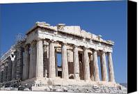 Ruins Canvas Prints - Parthenon front Facade Canvas Print by Jane Rix