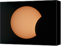 Solar Eclipse Canvas Prints - Partial Phase Of An Annular Solar Eclipse 10/5/94 Canvas Print by Dr Fred Espenak