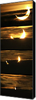 Solar Eclipse Canvas Prints - Partial Solar Eclipse, January 2011 Canvas Print by Detlev Van Ravenswaay