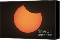 Solar Eclipse Canvas Prints - Partial Solar Eclipse Canvas Print by Science Source