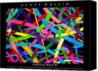Bronze Drawings Canvas Prints - PARTICLE TRACK Five Canvas Print by Scott Wallin