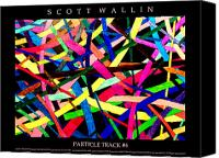 Bronze Drawings Canvas Prints - PARTICLE TRACK Four Canvas Print by Scott Wallin