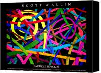 Bronze Drawings Canvas Prints - PARTICLE TRACK Six Canvas Print by Scott Wallin