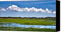 Cape Cod Scenery Canvas Prints - Partly Cloudy Canvas Print by Bill  Wakeley