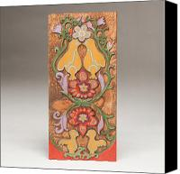 Floral Reliefs Canvas Prints - Partridge in a Pear Tree Canvas Print by James Neill