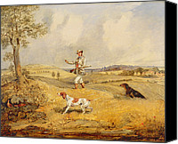 Beagle Canvas Prints - Partridge Shooting  Canvas Print by Henry Thomas Alken