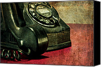 Vintage Telephone Canvas Prints - Party Line II Canvas Print by Tom Mc Nemar
