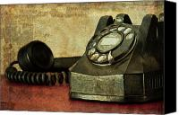 Antique Telephone Canvas Prints - Party Line Canvas Print by Tom Mc Nemar