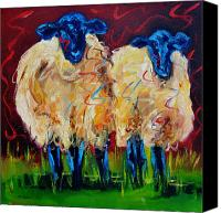Sheep Canvas Prints - Party Sheep Canvas Print by Diane Whitehead