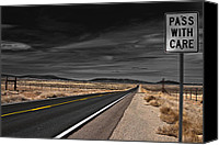 Ride Canvas Prints - Pass With Care Canvas Print by Atom Crawford