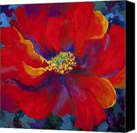 Marion Rose Canvas Prints - Passion - Red Poppy Canvas Print by Marion Rose