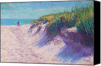 Water Pastels Canvas Prints - Past the Dunes Canvas Print by Michael Camp