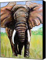 Elephant Pastels Canvas Prints - Pastelephant Canvas Print by Pete Maier