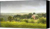 Hay Canvas Prints - Pastoral Barn Canvas Print by Scott Norris